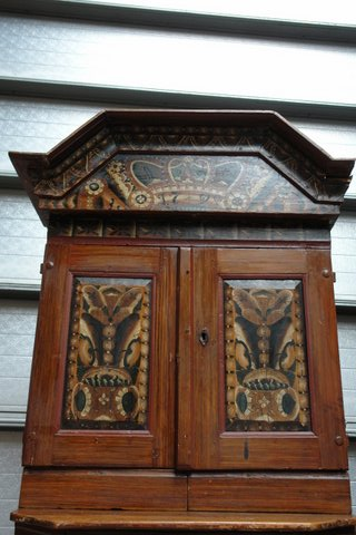 B 601 - Swedish Country Cabinet Painted 1800 - 251 - 500